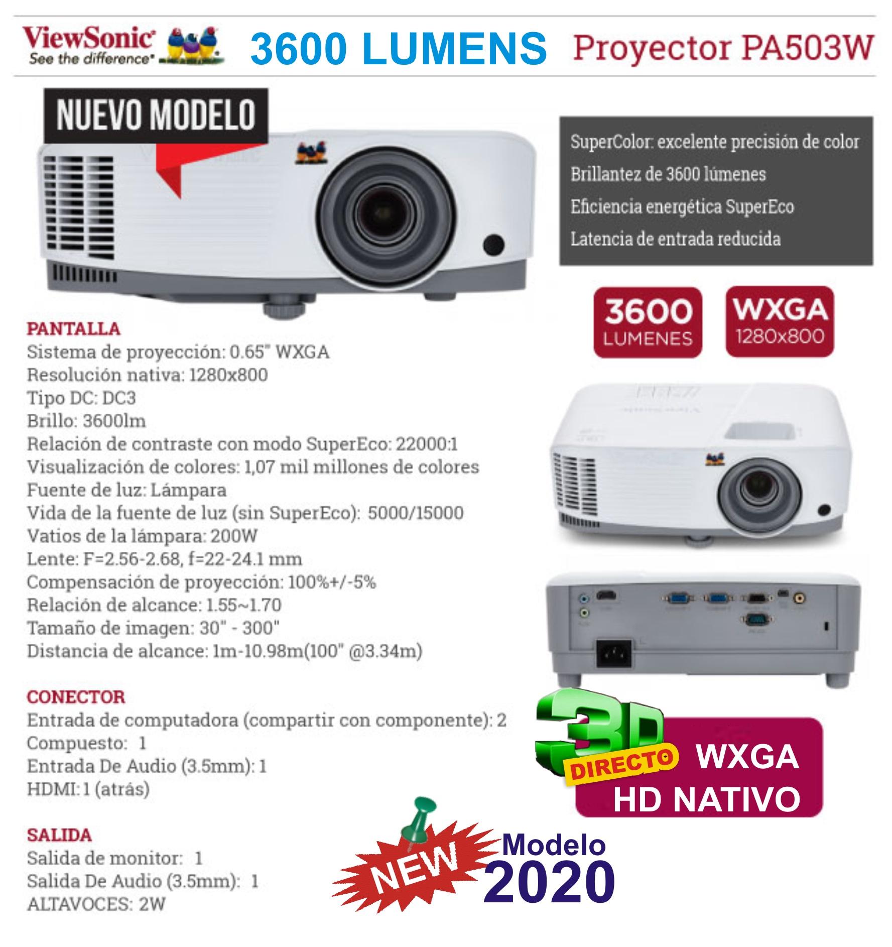 viewsonic pa 503 w 2020