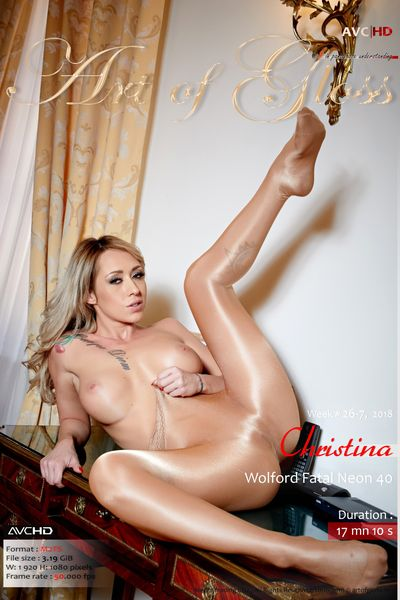 Art of Gloss #1 in pantyhose understanding.  26-7, Christina, Wolford Fatal 40 [1080p]